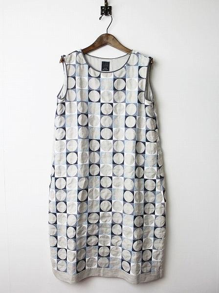pallo 刺繍 ノースリーブフレアワンピース