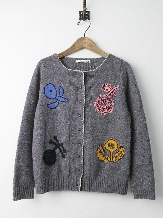 quartet 刺繍 ニット カーディガン