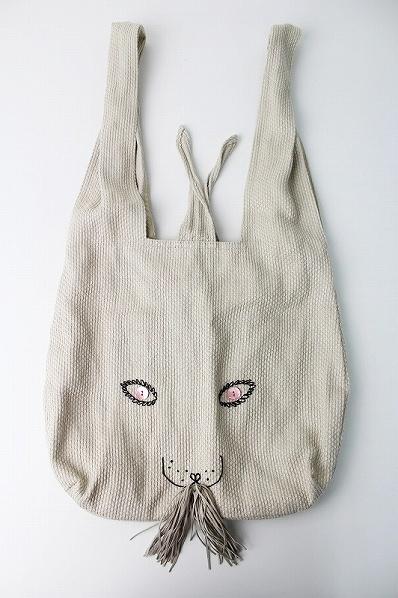リネン usa bag (大)