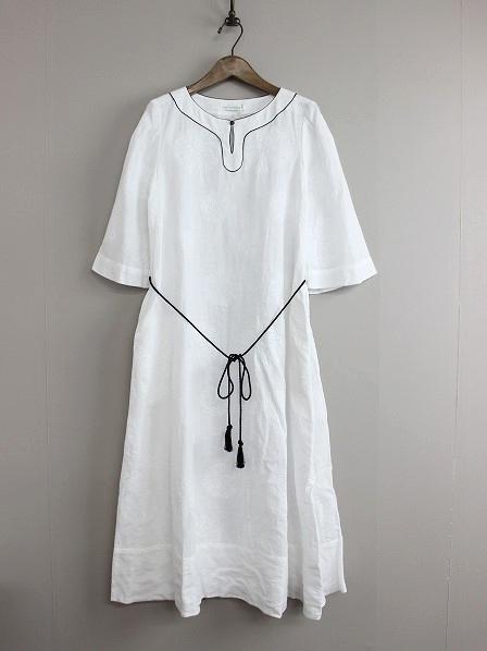 forest dot 刺繍 ドレス