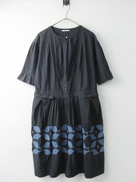 four birds 刺繍 ワンピース