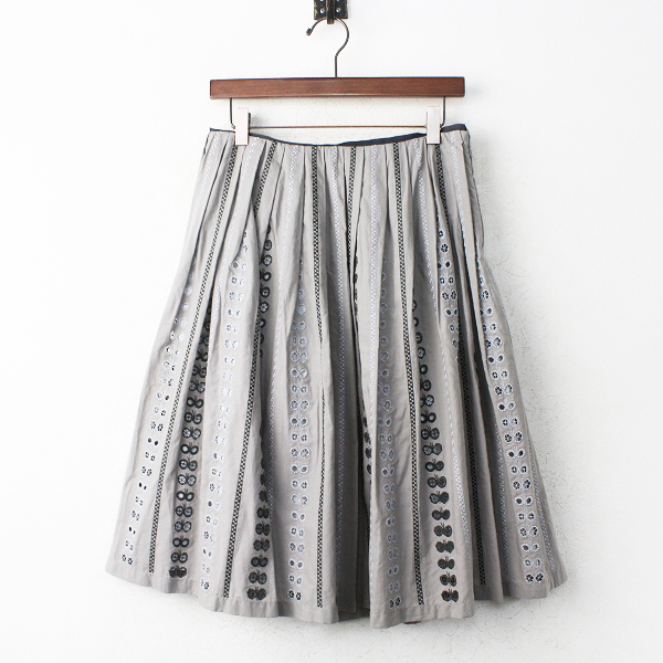 chiyo 刺繍 フレア スカート