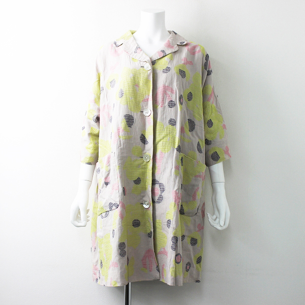 morning garden 刺し子刺繍 ロング コート