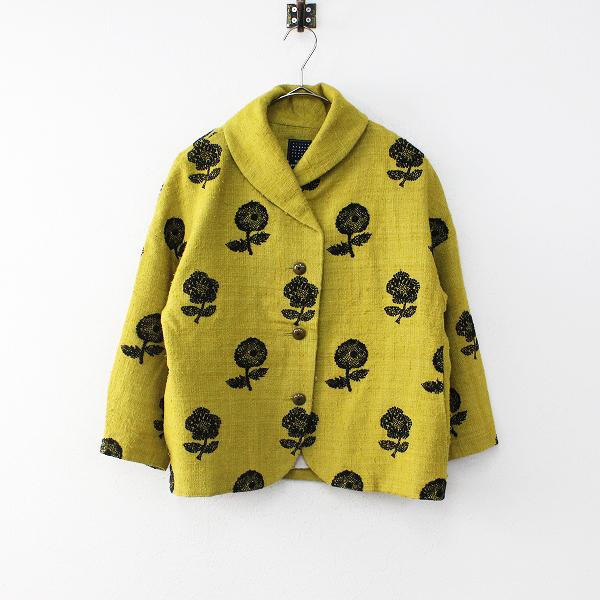 mina perhonen ミナペルホネン chum 刺繍 ワイドジャケット