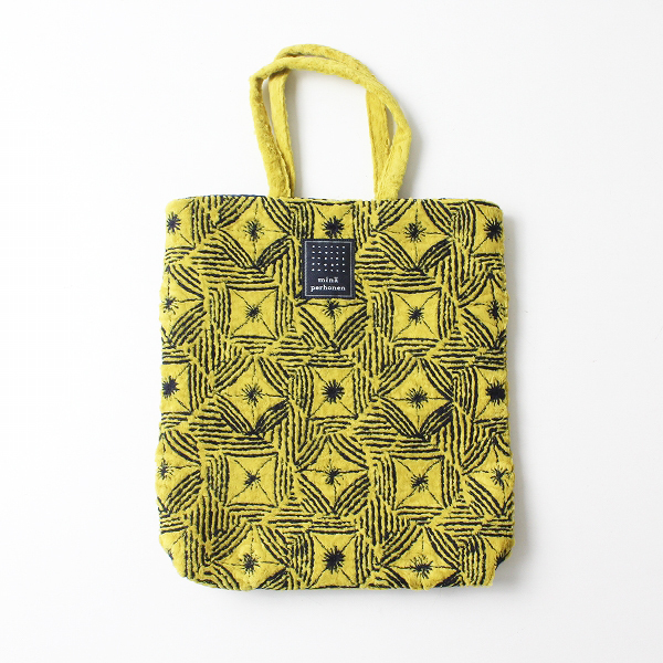 2020AW mina perhonen ミナペルホネン YA9872 toast bag -flower circle- 刺繍トートバッグ