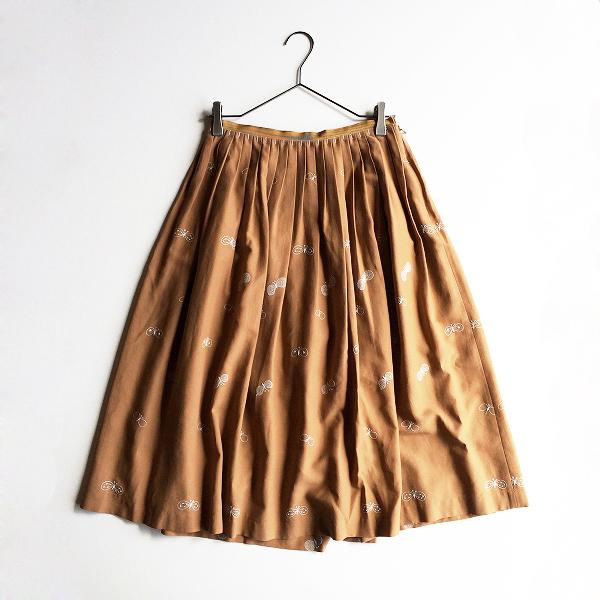 2019AW mina perhonen ミナペルホネン choucho 刺繍 フレアスカート