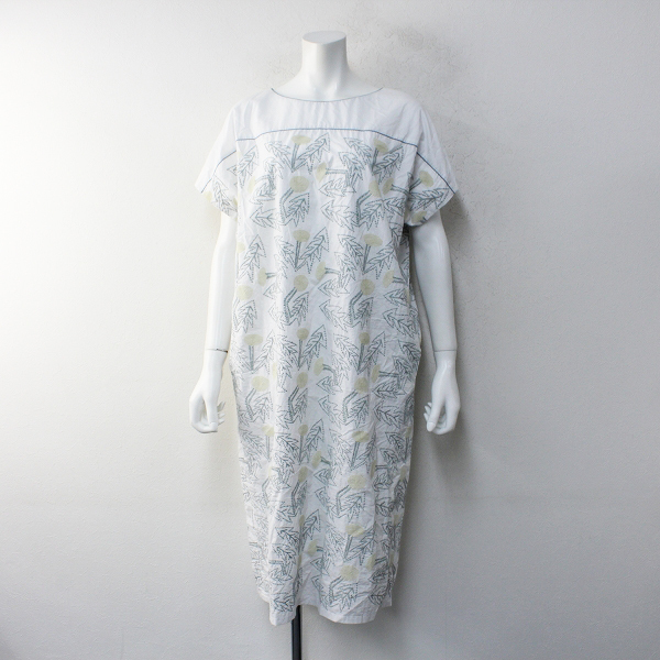2018SS mina perhonen ミナペルホネン ws3485 コットン tanpopo 刺繍 ワンピース
