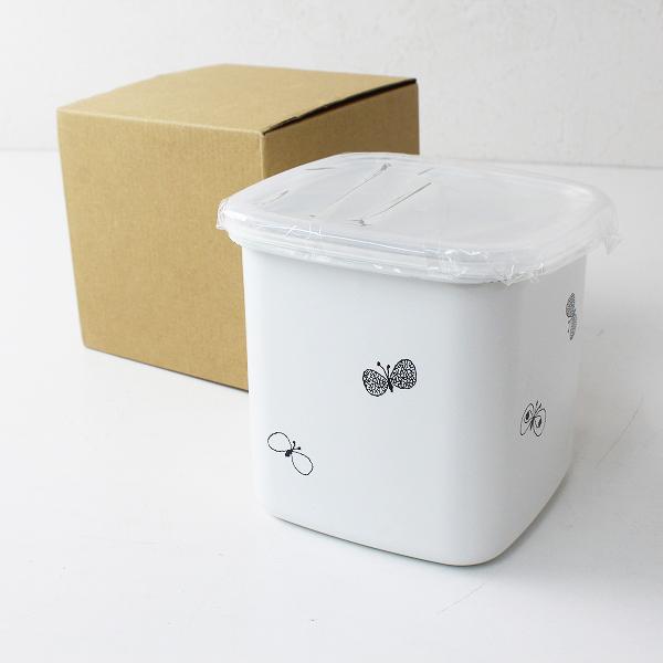 mina perhonen ミナペルホネン X 野田琺瑯 choucho 蓋付き保存容器 スクウェアL