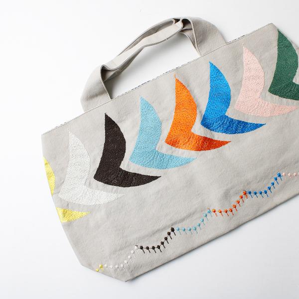 2020SS mina perhonen ミナペルホネン bird マルチカラー刺繍 パニーニバッグ