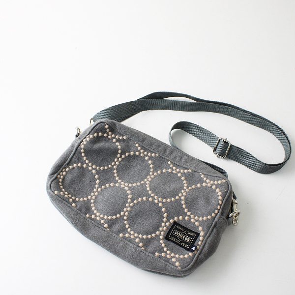 mina perhonen ミナペルホネン × PORTER ポーター tambourine 刺繍 ショルダーバッグ