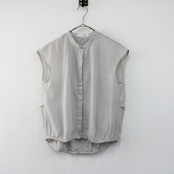 2020SS mina perhonen ミナペルホネン suu バンドカラーノースリーブシャツ