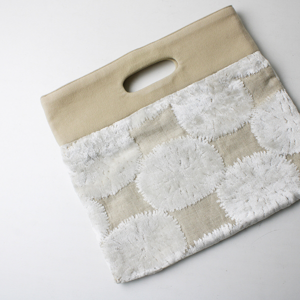 2017SS mina perhonen ミナペルホネン flag bag sand flower フラッグバッグ