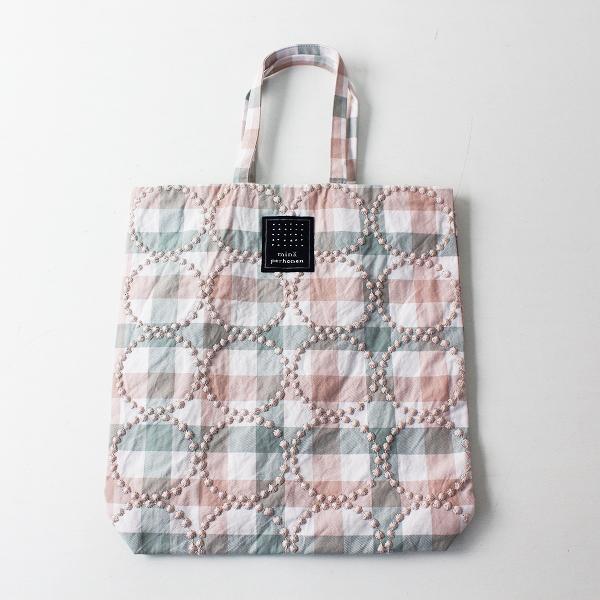 2019SS mina perhonen ミナペルホネン toast bag -tambourine- 刺繍 トーストバッグピンク